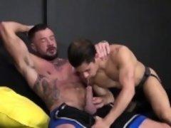 Tattoo jock cock suck with cumshot
