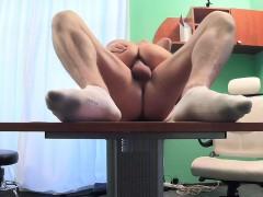 Fake Hospital Petite blonde deepthroats a thick dick