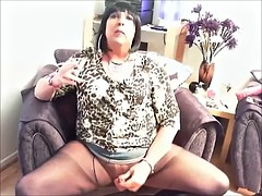 Chrissie shooting a big load of her clitoris wimp