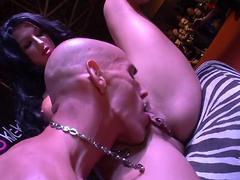 public display of sexual activity and it is a threesome