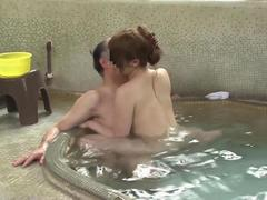Blindfolded Asian cutie is ready for some group sex