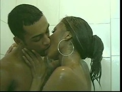 Tranny gets a sizeable purple pole deep inside her tight butt and furthermore cumshot