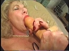 Hairy Granny Loves Toy and also Bbc