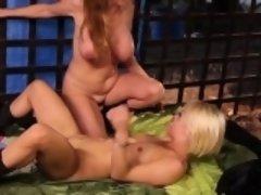 Milf and pornstar trib