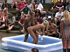 Outdoors Oil Wrestling