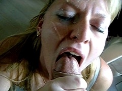 Sucky Facial When She Sucks To Swallow