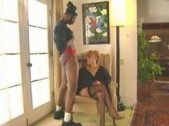 80's Blonde Loves Her Dark Log!