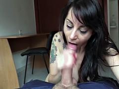 Fake cop bangs huge boobs brunette amateur babe