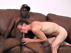 Hung black thug fucks a white boy curly