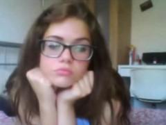 Brunette brune, Masturbation, Solo, Adolescente, Webcam