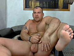 Str8 bodybuilder Stoke and cum