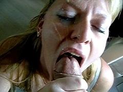 Семяизвержение, Сперма на лице, Глотающие
