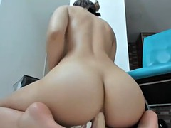 incredible big tits shaved put dildo in your asshole