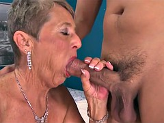 Old granny craving young cock