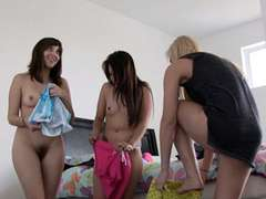 BFFs sleepover leads into gonzo hook-up