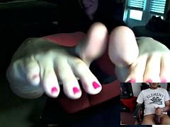 Mistress Dee Skype Foot JOI Session