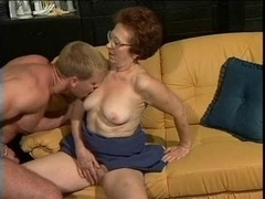 German granny & her youthful lover