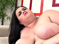 busty bbw pleasuring herself with toys