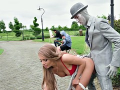 Большие сиськи, Блондинки, В одежде, Секс без цензуры, На природе, На публике, Русские