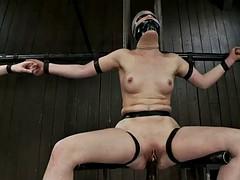 chicks gagged & stuffed in bondage fuck scene