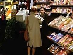 A Female Visits A Sex Shop To Watch Porn