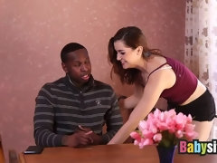 Kasey Warner got her tight pussy fucked by a large black dick