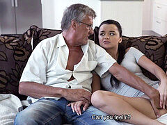 DADDY4K. Naughty girl Erica ebony seduces boyfriend's daddy to fuck..