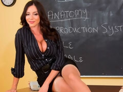 Sensual busty brunette Ariella Ferrera screwed by a large penis