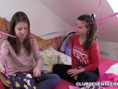 Barely Legal Teen Lesbians Fucking at Home
