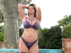 Waterhole: Voluptuous American Stretching At The Pond