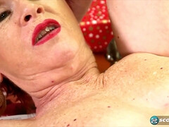 62 y.o. granny Caroline Hamsel hard sex video