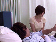 mommy takes care of sonnie in the clinic - Famperv.com