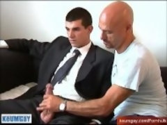 """Gyome innocent straight guy serviced his big cock by a guy!"""