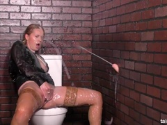 Goo Spraying Gloryhole Gratifies Her G Spot