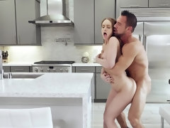 Bodacious young slut gets dicked down in the kitchen