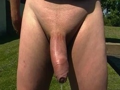 Ball and Penis massage. Precum and cum