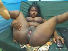 ebony woman squirts milk out of her breasts on the webcam movie