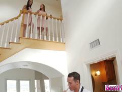 Very naughty Bridesmaids fucks the bestman before wedding