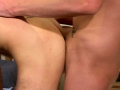 Horny dude plays with his stick jerking off it truly toughly