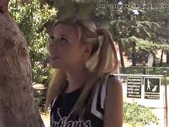 cheerleader teen nicole ray gets stretched by a bbc