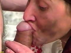 Gross hairy mommy cruel screwed by stepson