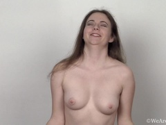 Camille finishes yoga and masturbates on yoga mat